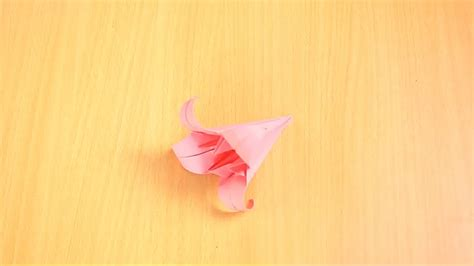 Origami Lilly - how to fold an origami 13 steps with pictures