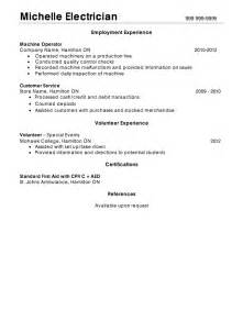 Industrial Electrician Sle Resume by Electrical Resume Sles