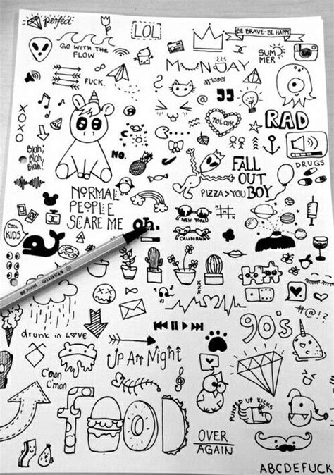 doodle ideas for school best 25 notebook doodles ideas on