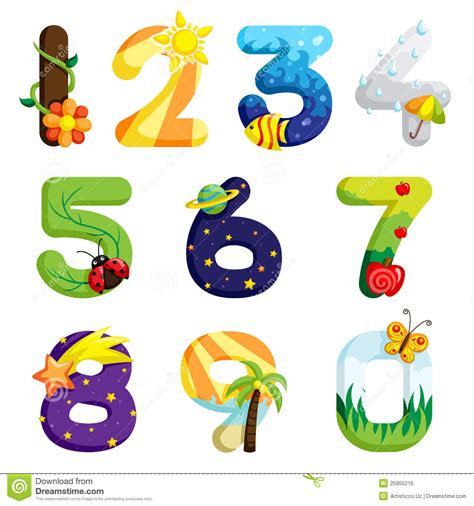 clipart numeri numbers set stock vector illustration of math vector