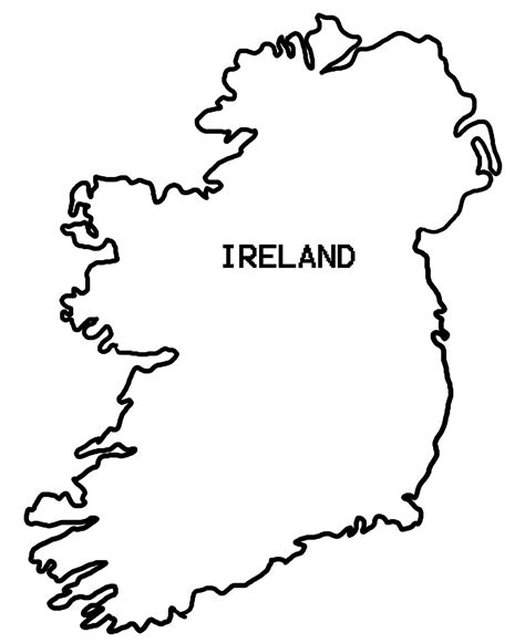 Ie Map Area Outline by Drawing Ireland Map Outline 52 For Your Free With Ireland Map Outline
