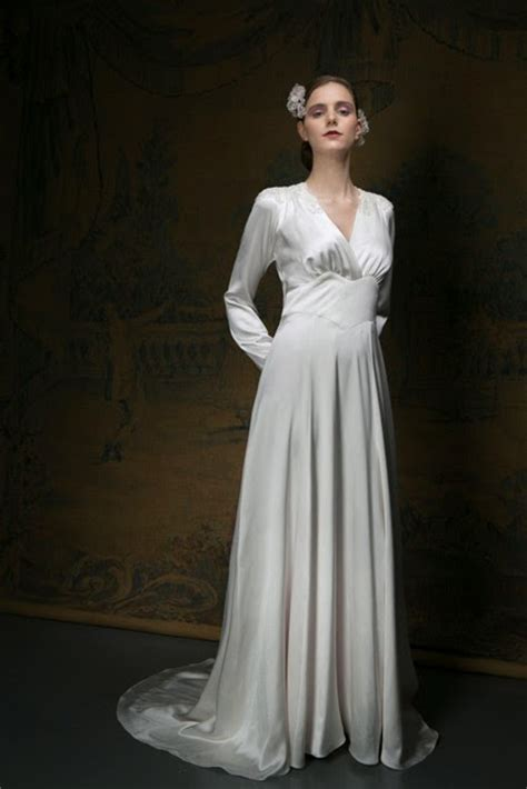 1940s Style Wedding Dresses by A 1940s Style Vintage Wedding Dress For A Cool Day