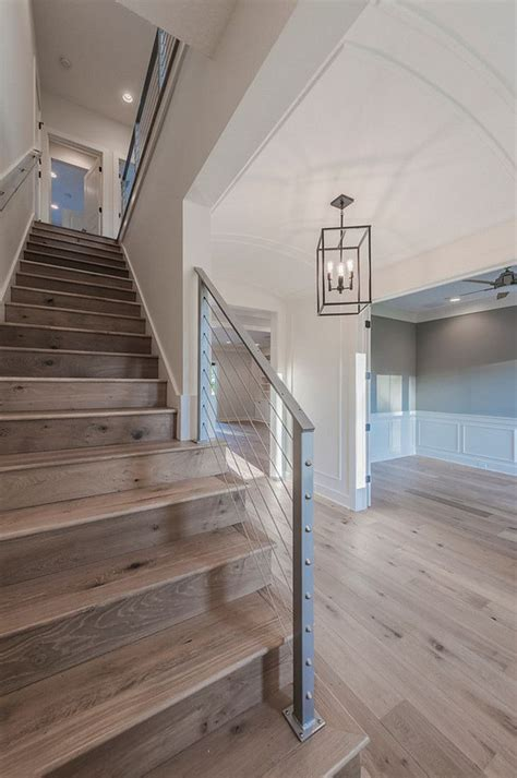 Barrel Ceiling Foyer  Steel Cable Railing Staircase