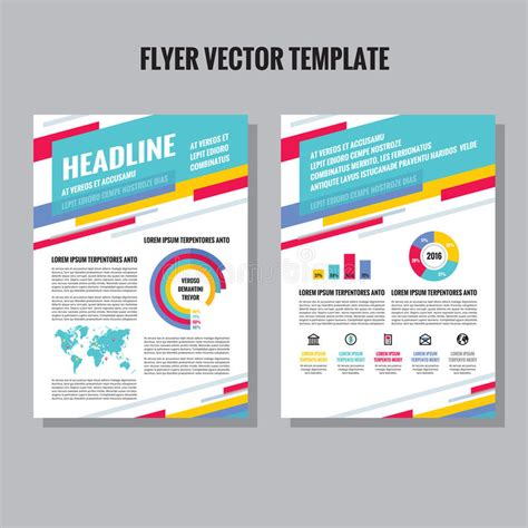 brochure and flyer layout vector 6 flyer vector template with infographic icons and world