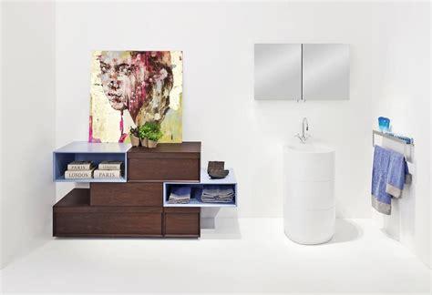badezimmerschränke mit schubladen badezimmer schrank mit schubladen blau und akazie finish