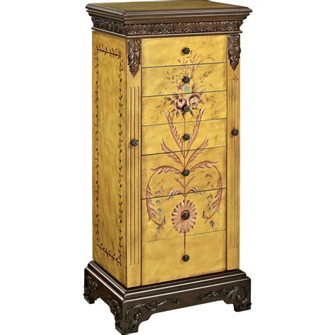 powell masterpiece jewelry armoire powell 582 314 masterpiece antique parchment hand painted