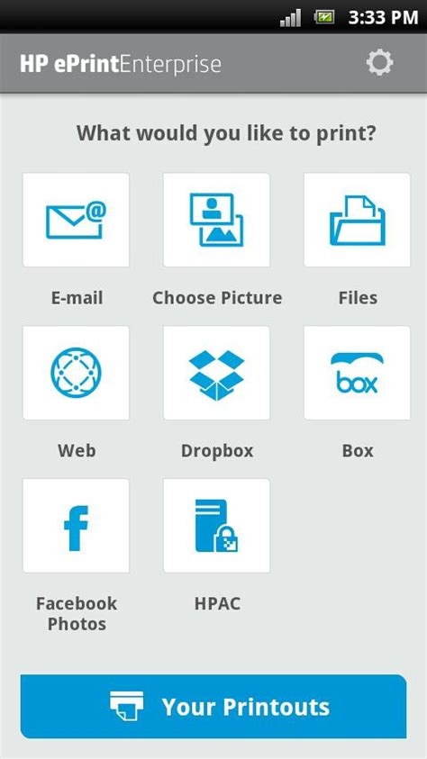 free print apps for android hp eprint enterprise service android apps on play