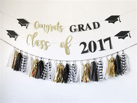 graduation banner congrats grad banner class of 2017