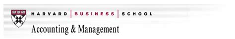 Cpa Harvard Mba by Ssrn Harvard Business School Accounting Management Unit