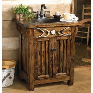 rustic antler vanity sink reclaimed furniture design ideas