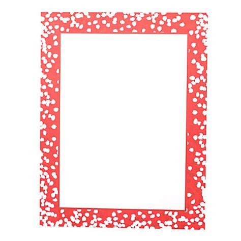 Gartner Studios Holiday Stationery Sheets Red Confetti Dot 8 12 X 11 Pack Of 80 By Office Depot Gartner Stationery Templates