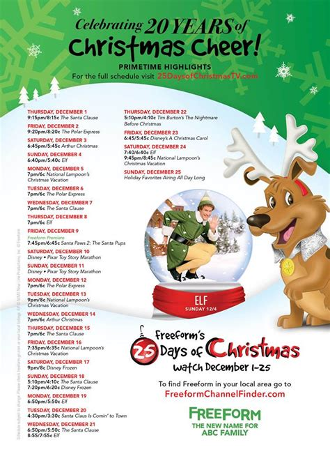 printable schedule of hallmark christmas movies 2016 christmas movies and tv show schedule an awesome guide