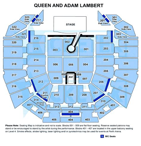 rod laver arena floor plan 2 x queen adam lambert perth arena tickets front floor