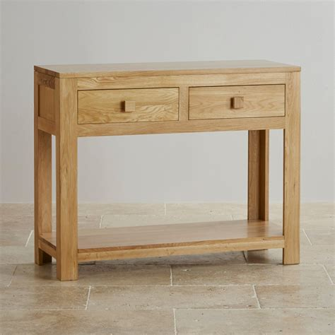 oak console oakdale solid oak console table by oak furniture land
