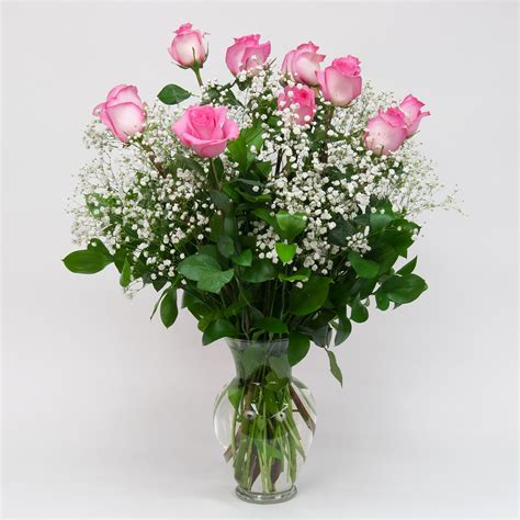 Pink Roses In A Vase by Dozen Pink Roses In Vase Brattle Square Florist Since 1917