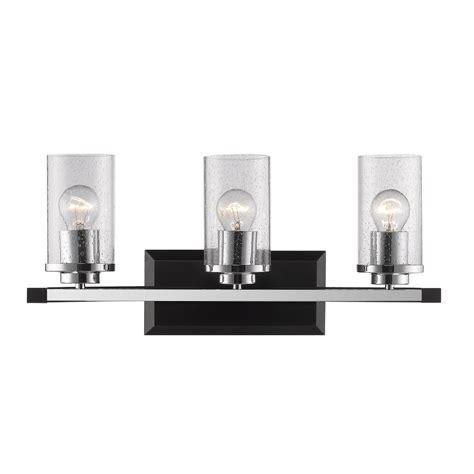 Black Bathroom Light Minka Lavery Agilis 3 Light Black Bath Light 6813 66 The