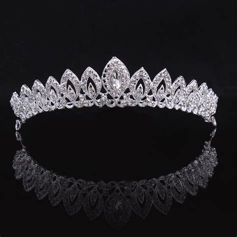wedding tiaras and crowns vintage queen quinceanera princess silver plated pageant