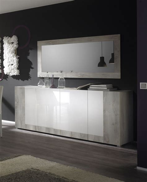 Exceptionnel Miroir De Salle A Manger Rectangulaire #1: miroir_rectangulaire_de_salle_manger_contemporain_pin-blanc_laqu_maroussia.jpg