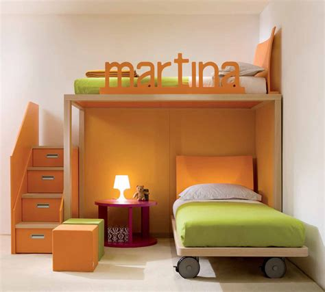 Bedroom Designs For Children by Cool And Ergonomic Bedroom Ideas For Two Children By