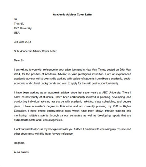 sle academic advisor cover letter how to write a cover letter for an academic advisor