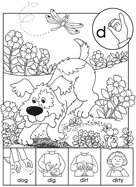 sign language coloring pages vitlt com