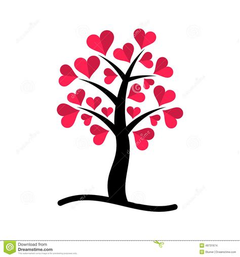 tree with tree with hearts stock vector image of japanese