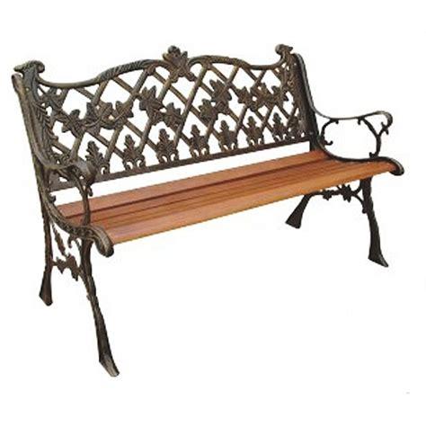 park bench walmart sicilian cast back park bench bronze walmart com