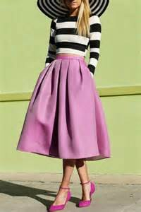 matching set striped crop top pleated bud skirt matching set oasap