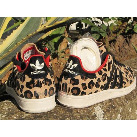 womens adidas national tennis w g96538 leopard suede casual shoes sneakers ebay