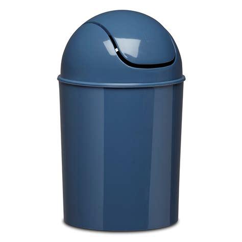small waste basket blue small waste basket trashcan lid bin garbage bathroom