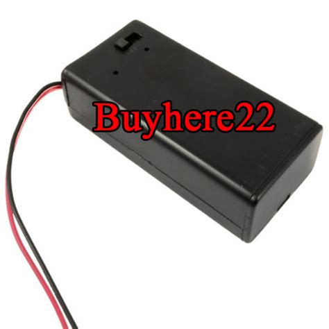 Pp3 9v Battery Holder Box With Onoff Switch Dc 21mm 9v pp3 battery project box enclosure holder on switch with wires uk seller ebay