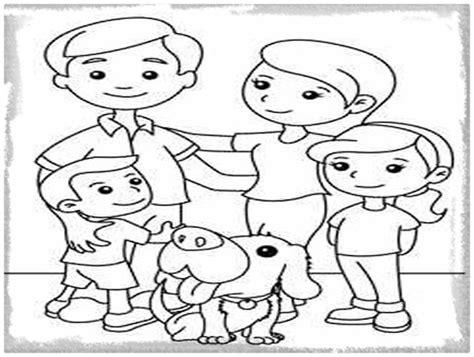 imagenes para colorear sobre la familia dibujos para colorear de familias felices imagenes de