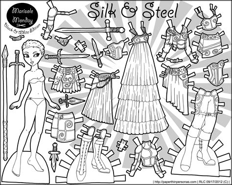 printable paper dolls black and white thumbnail link image printable paper doll