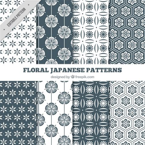 japanese pattern eps japanese floral black and white patterns vector free
