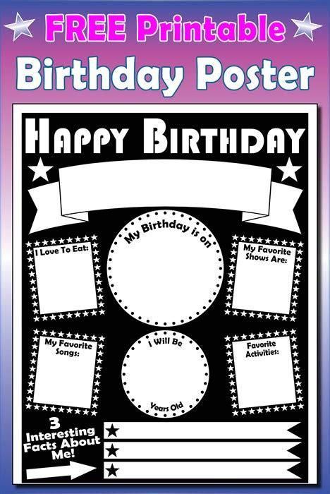 printable posters online free printable birthday poster