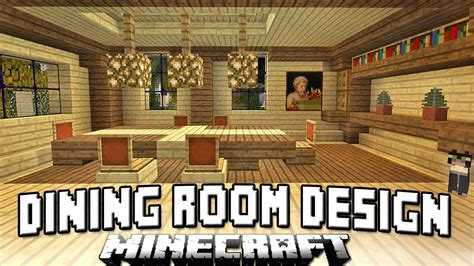 Minecraft Dining Room minecraft tutorial how to build a house part 13 dining room chairs and table design