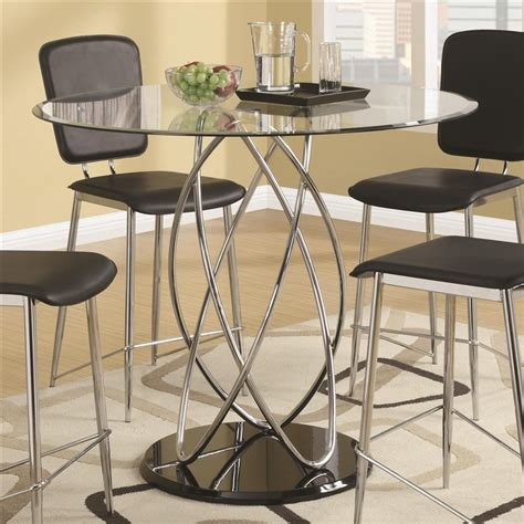 glass top bar table set ciccone glass top piece counter height dining table set by