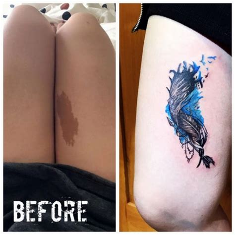 birthmark tattoo 30 best tattoos that cover birthmarks