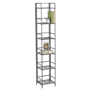 6 shelf iron folding tower reviews the container store