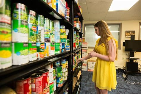 Open Food Pantry by As College Costs Rise Schools Open Food Pantries