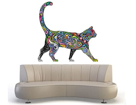 Sticker Wallpaper Dinding Hi Cat cat wall decals sticker decor vinyl removable nursery mural vinyl ebay