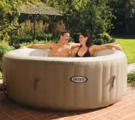 Air Jet Bathtub Reviews Intex Pure Spa 4 Person Inflatable Portable Tub With