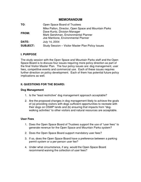 policy change memo template 9 best images of writing a policy memo exle policy