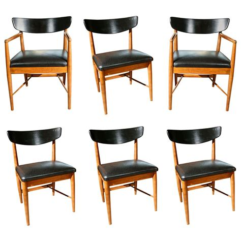 American Of Martinsville Dining Room Set by Set Of Six American Of Martinsville Quot Surfboard Quot Dining Chairs At 1stdibs