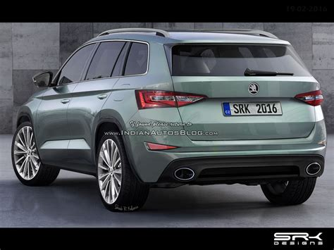 rear   production skoda visionsskoda kodiak rendering