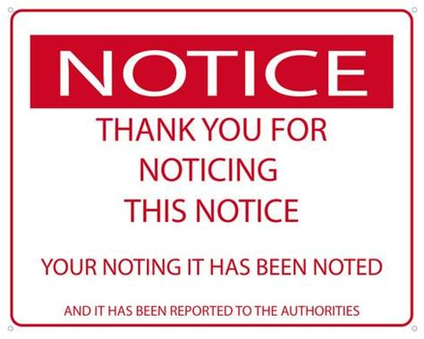 the noticer notice the notice tin sign at allposters com