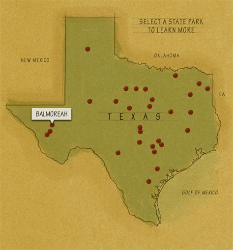 map of texas state parks tpwd parks
