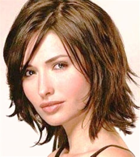 new hairstyles for thin medium length hair big forehead choppy medium length haircuts latest shoulder length