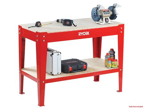 ryobi work bench power tools ryobi workbench with shelf rwb 1200
