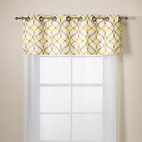 yellow valance curtains elite izmir cotton grommet window valance yellow bed